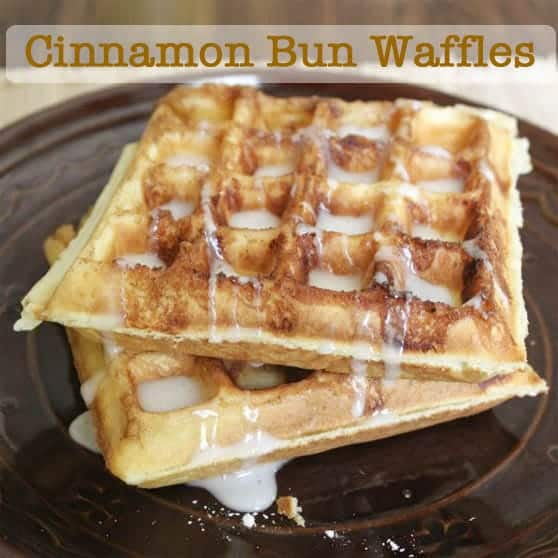 How to Make Gluten-Free Cinnamon Bun Waffles  | GlutenFreeBaking.com