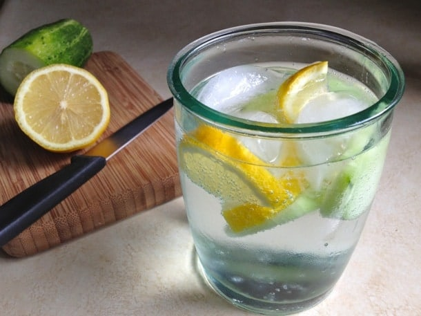 Lemon Cucumber Water | GlutenFreeBaking.com