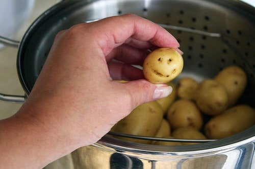 Steamed Potatoes Smile