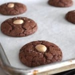 Salted Chocolate Marcona Almond Cookies