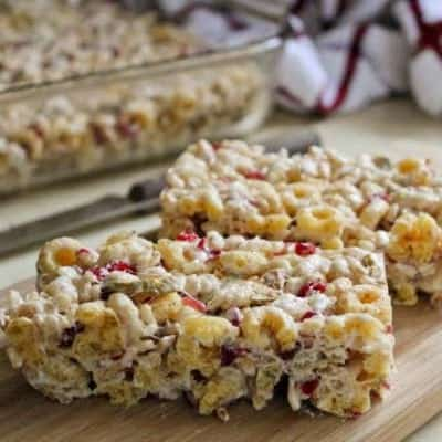 Gluten-Free Apple Cherry Cereal Bars