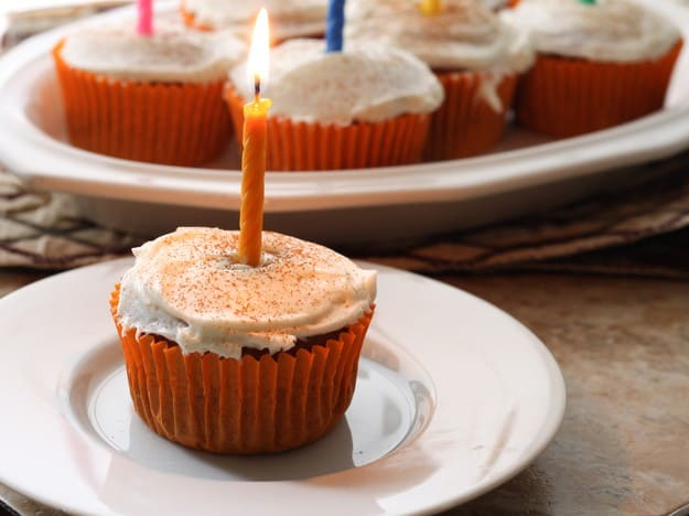 Gluten-Free Spicy Pumpkin Cupcakes with Cream Cheese Icing