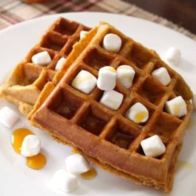Sweet Potato Casserole Waffles