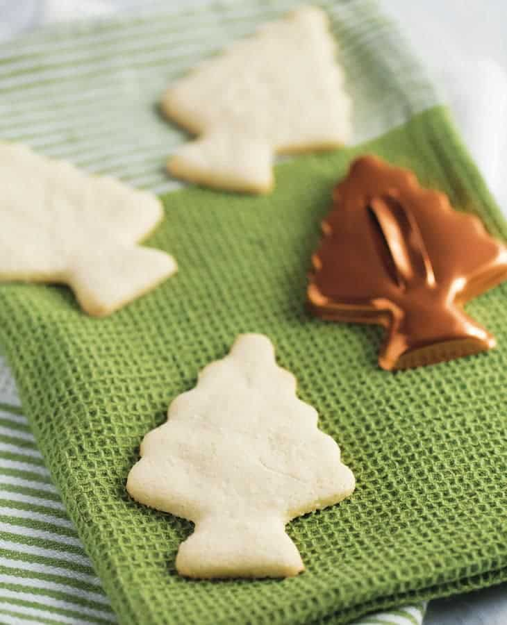 Paleo Cut Out Sugar Cookies (Tree)