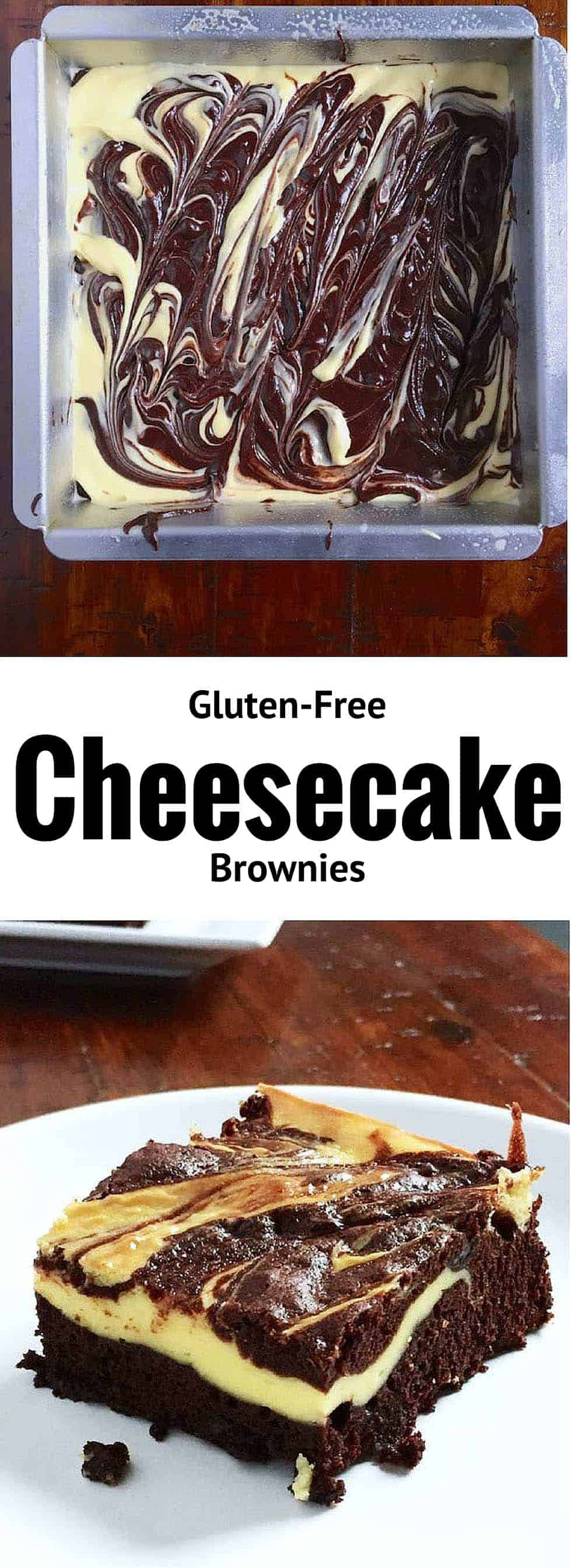 Gluten-Free Cheesecake Brownies