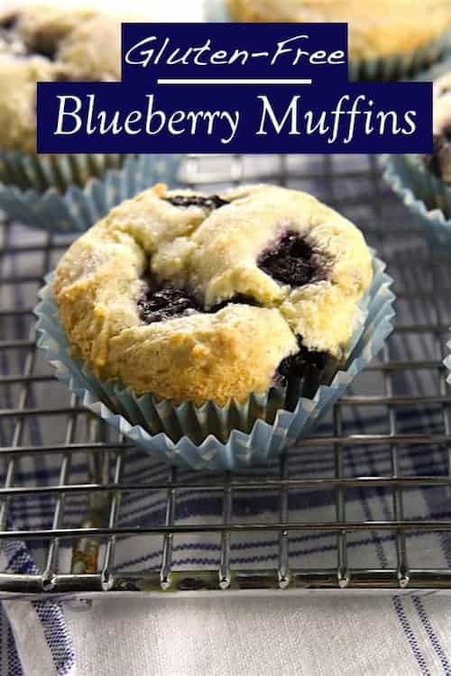 Gluten-Free Blueberry Muffins make a tasty breakfast treat. These muffins contain a blueberry in each bite.