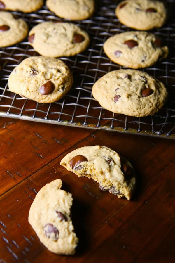 Gluten-Free Chocolate Chip Cookies are easy to make! These are thick and chewy!